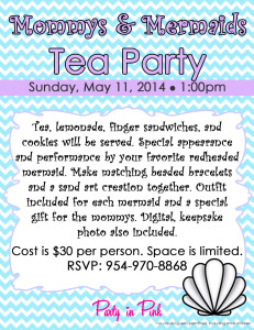 Mommys and Mermaids Tea Party
