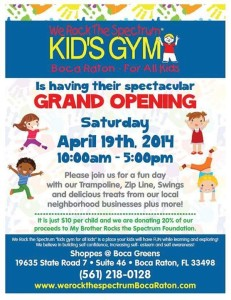 Grand Opening Event – We Rock the Spectrum Kid's Gym