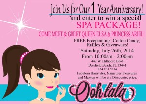 Join us for our One Year Anniversary