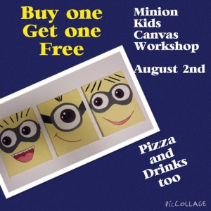 Minion's Movie & Pizza Canvas Workshop